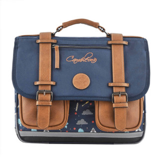 Caméléon Vintage Print Boy Cartable 35cm India Blue