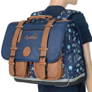 Caméléon Vintage Print Boy Cartable 38cm India Blue
