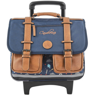 Caméléon Vintage Print Boy Cartable A Roulettes 38cm India Blue