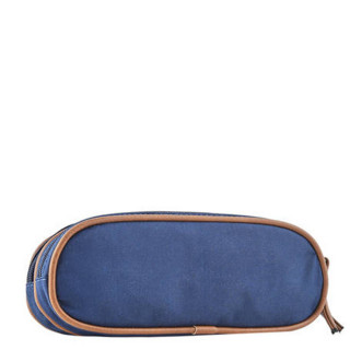 Cameleon Trousse Double Vintage Print Boy India Blue