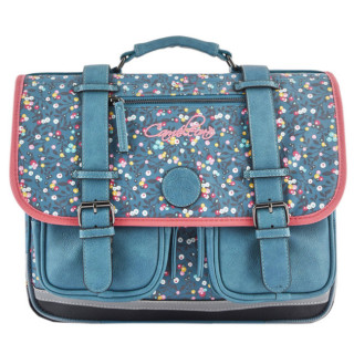 Caméléon Vintage Print Girl Cartable 38cm Little Blue