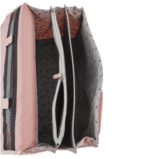 Caméléon Vintage Print Girl Cartable 41cm Old Pink Petal ouvert