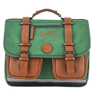 Caméléon Vintage Uni Cartable 38cm Bi Green