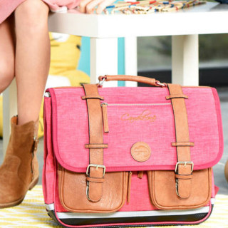 Caméléon Vintage Uni Cartable 38cm Bi Pink
