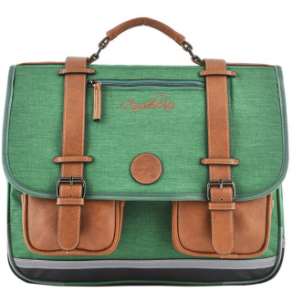 Caméléon Vintage Uni Cartable 41cm Bi Green