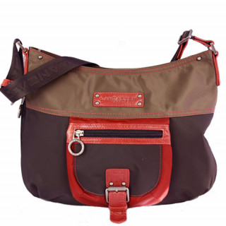 Lancaster Basic et Sport Sac Porté Travers 504-89-Marron Multi