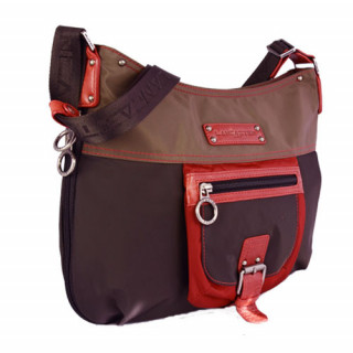 Lancaster Basic et Sport Sac Porté Travers 504-89-Marron Multi coté
