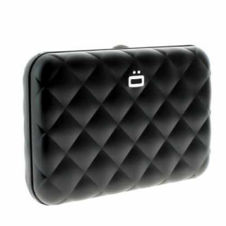 Ogon Quilted Button Porte Cartes Black