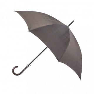 Parapluie Homme Piganiol Droit Automatique Prince de Galles Marron