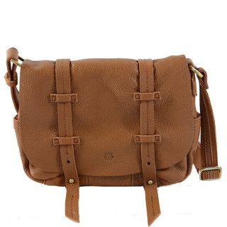 Mila Louise Bess Cuir Triband Sac Porté Travers Camel