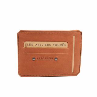 Jean-Louis Fourès Baroudeur Porte-feuille avec poche monnaie au dos Fauve