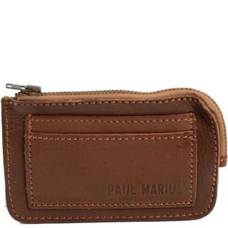 Paul Marius Augustin Porte Monnaie Marron Huilé