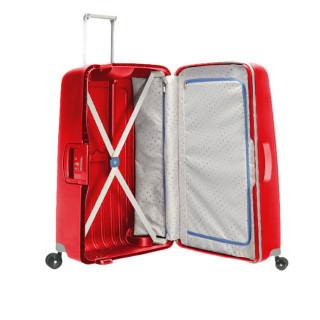 Samsonite S'Cure Spinner 69 cm Suitecase Trolley 4 Cramoisi Red Wheels