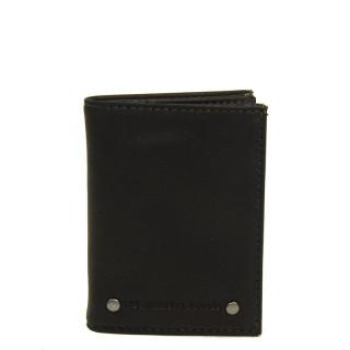 portefeuille homme en cuir noir petit format