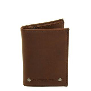 Petit portefeuille homme en cuir marron