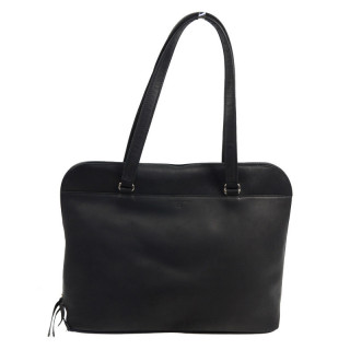 cartable business cuir femme noir
