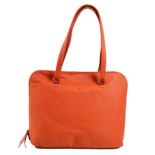 cartable business cuir femme orange