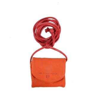 JL Fourès Baroudeuse Porte Monnaie Nomade Cuir Orange