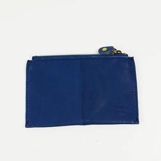 Mila Louise Poch Etoile Cuir Grand Porte monnaie Bleu Cobalt