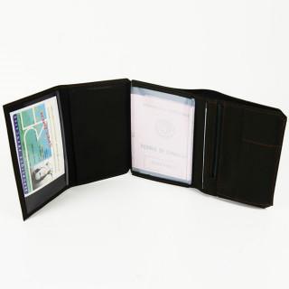 Jean Louis Fourès Baroudeur Wallet 3 Volets 14 cm Black