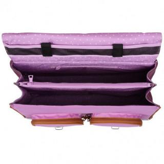 Tann's Iconic Cartable 41cm Violet/Parme ouvert