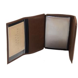 Jean Louis Fourès Baroudeur Wallet 3 Volets 14 cm Cognac