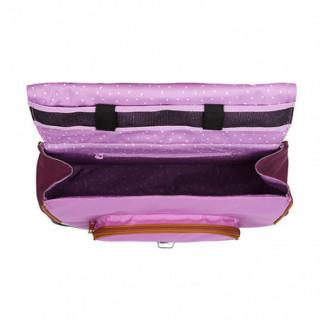 Tann's Iconic Cartable 35cm Violet/Parme ouvert
