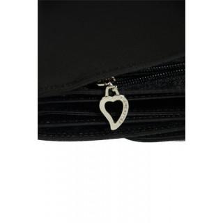 Lancaster Basic et Cœur Tout en Un 104-03-Noir motif
