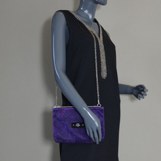 Mila Louise Natasha Spark Sac et Pochette Violet porté