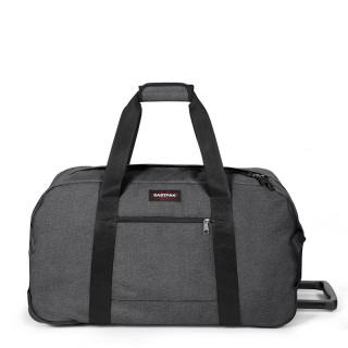 eastpak wheeled black duffle bag