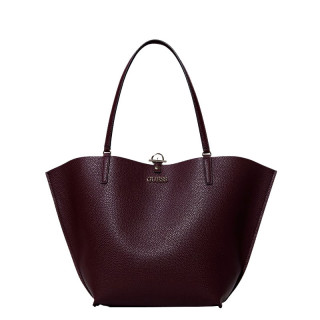 Guess Alby Revrsible Shopping Bag with a Mini Pocket Burgundy