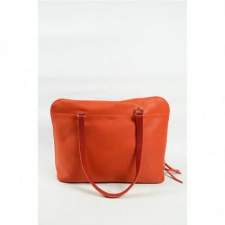 cartable business cuir femme orange