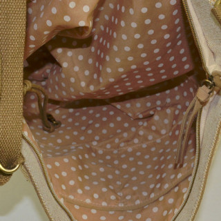 Mila Louise Romane Canotier sac cabas Rouge