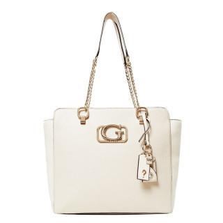 sac shopping femme beige Guess Annarita