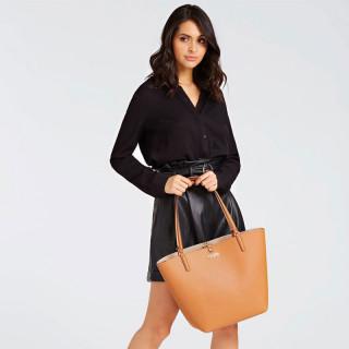 Guess Alby Revrsible Shopping Bag with a Mini Pocket Caramel