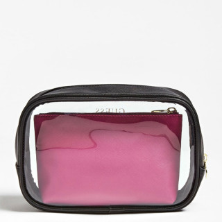 Guess Ariane Set Of 3 Cosmetic Bags Black Multi