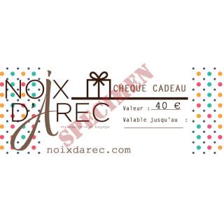 Chèque Cadeau noix d arec 40 €