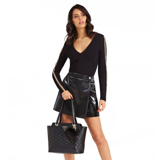 Guess Astrid Stitched Tote Bag Black
