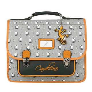 Caméléon Retro Cartable 35cm Zebra Yellow