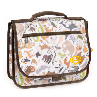 Stones And Bones Cartable 35cm Iris ZOO mud