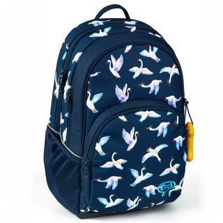 Stone and Bones Back Bag 2 Compartments Aspen Swans Indigo