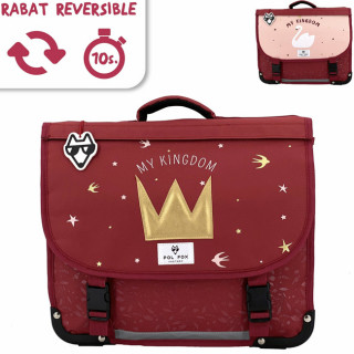 Pol Fox Reversible Cartable 35cm My Kingdom