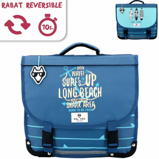 Pol Fox Reversible Cartable 35cm Surf Spirit