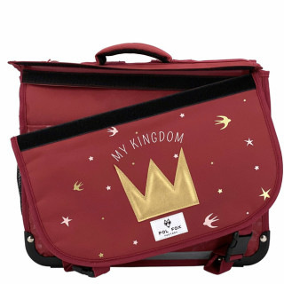 Pol Fox Reversible Cartable 38cm My Kingdom