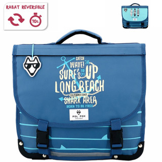 Pol Fox Cartable Reversible 38cm Surf Spirit