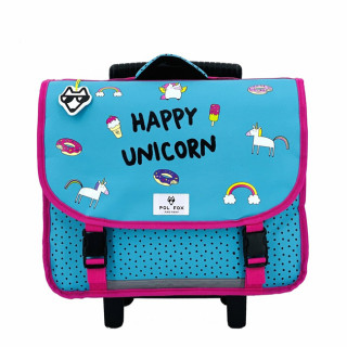 Pol Fox Trolley Cartable 38cm Happy Unicorn