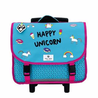 Pol Fox Trolley Cartable 38cm Happy Unicorn