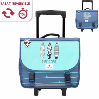 Pol Fox Cartable Trolley Reversible 38cm Surf Spirit