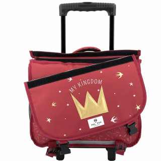 Pol Fox Cartable Trolley Reversible 38cm My Kingdom