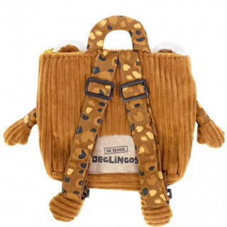 Les Deglingos Bag to Doudou Cartable Speculos the Tiger